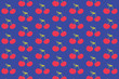 Purple and red cherry pattern - 165149832