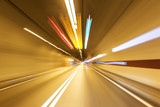 Road in an underground tunnel.
