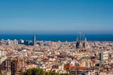 Barcelona cityscape wychodzi