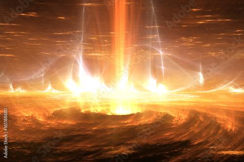Sun plasma flares. Solar storm, solar flares