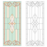 Stained-glass pattern in classic style. Vector - 165190037