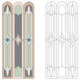 Stained-glass pattern in gothic style. Vector - 165190070