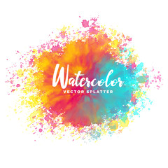 colorful watercolor splash vector background
