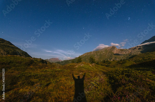 Foto op Canvas Nachtblauw Under the Stars