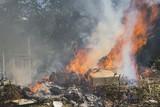 Burning garbage dump - 165206464