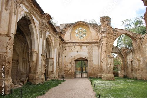 Ruins Landscape Monasterio de Piedra (Nuevalos, Zaragoza, Spain)