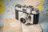 appareil photo vintage voyage passeport - 165225082