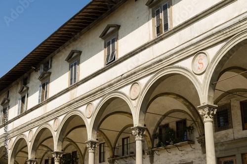 Foto op Canvas Florence Arcade at Piazza della Santissima Annunziata
