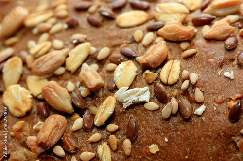 Whole grain sandwich, closeup