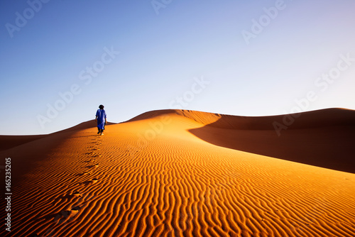 Alone in Sahara, Morocco - 165235205