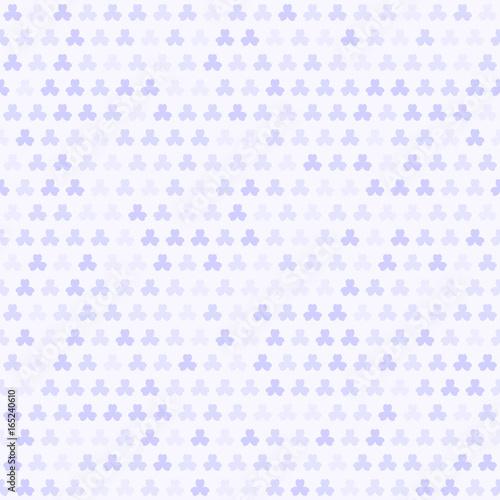 Violet shamrock pattern. Seamless clover vector background