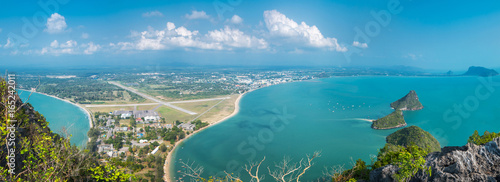 Island View of Ao Manao bay in Prachuap Khiri Khan