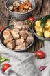 portion roast pork meat - 165242477
