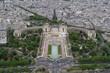 View of Jardins du Trocadéro (Gardens of the Trocadero) from the Eiffel Tower