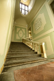 Old staircase in an old apartment building in Florence