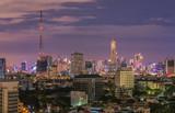 The image looks down at Bangkok, Thailand, at night and morning.