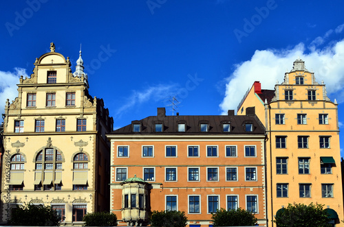 Staande foto Stockholm immeuble ancien à Stockholm