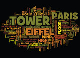 EIFFEL TOWER Text Background Word Cloud Concept