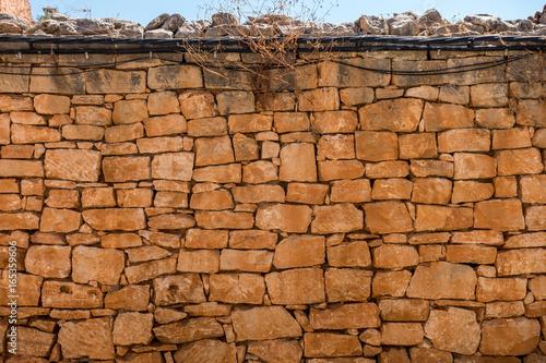 Foto op Canvas Baksteen muur Trockenmauer
