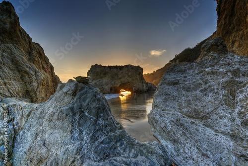 Rock formations at El Matador Beach, Malibu, California