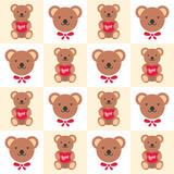 a bear doll seamless illustration