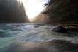 Lower Lewis River Falls During Sunset Washington state - 165370022