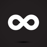 Infinity symbol icon. Vector illustration - 165373078