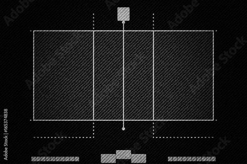 Realistic Black Denim texture of Volleyball court field element vector illustration design concept