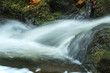 Rushing water at base of Carpenter's Falls in Granby, Connecticut. - 165379403