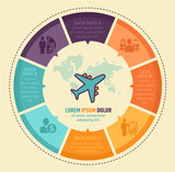 Travel infographic vector design. Infographic design template. - 165383210