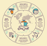 Travel infographic vector design. Infographic design template. - 165383226