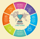 Trophy infographic template vector design. Infographic design template. - 165383248