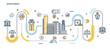 Flat Line Design Header - Investment