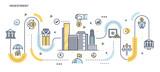Flat Line Design Header - Investment - 165391458