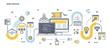 Flat Line Design Header - Web Design