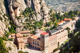 Aerial view of Montserrat monastery. Catalonia. Spain.