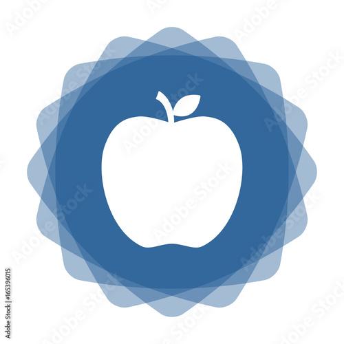 App Icon blau Apfel - 165396015