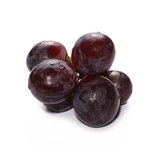 Dark grapes, isolated on white background - 165414686