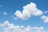 ciel bleu nuage blanc fond beau temps météo arrière plan