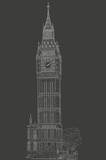drawing London Big Ben - 165424208