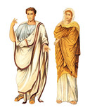 Ancient roman man and woman (Ancient Rome) - vintage illustration - 165425611