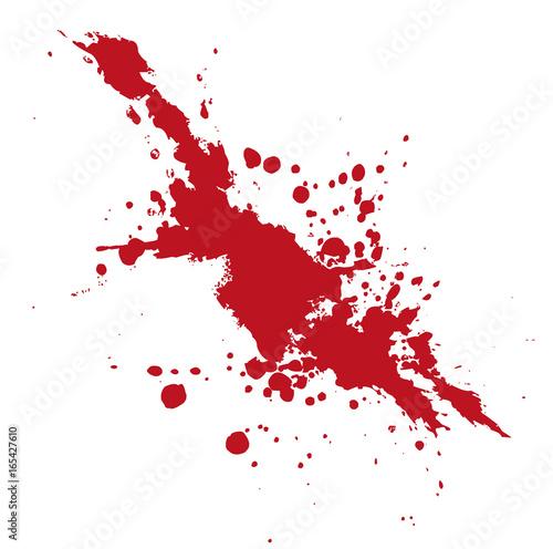 Blutspritzer oder Farbklecks auf weißem Hintergrund als Vektor