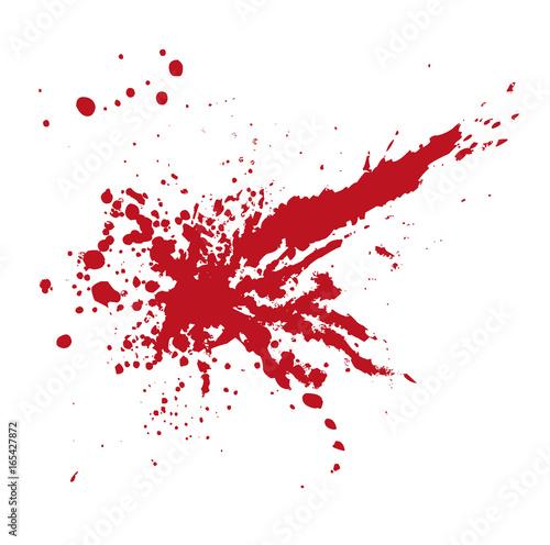 Vektor Blutspritzer oder Farbklecks