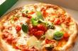 Italian Pizza Margherita in a Pizza Box