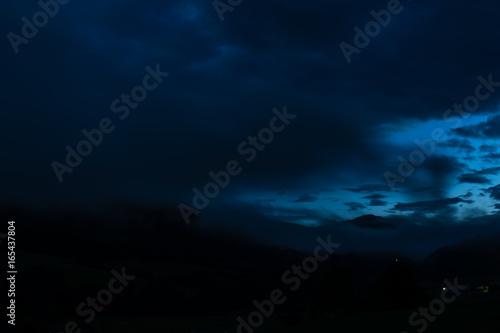 Blue Glowing sky in the night