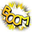 Boom! - Vector illustrated comic book style expression. - 165447217