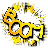 Bum! - napis w stylu komiksu