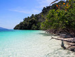Quadro Beautiful white sand beach, the tropical sea at Satun province , Thailand