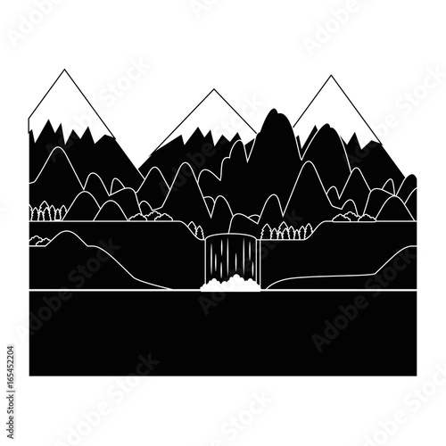 mountains landscape image over white background graphic