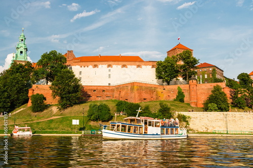 Krakow. Poland. Wawel Castle, the cathedral and the tomb of Polish kings. Summer. Sunset.